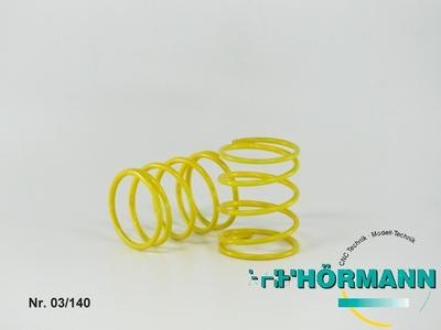 03/140 Stoßdämpfer Feder kurz 2,2mm gelb  2 Stuks