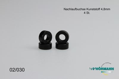 02/030 Kasterbusjes Kunststof L.=4,8 mm.  4 Stuks