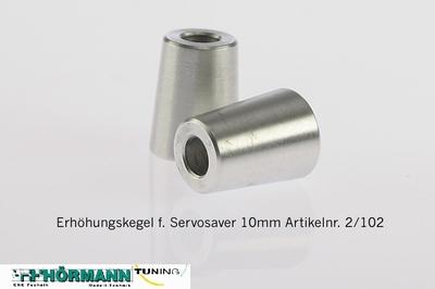 02/102 Verhogings kegel servosaver 10 mm.   2 Stuks
