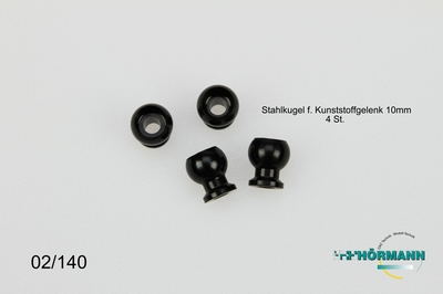 02/140 Stahlkugel-Kugelgelenkgelenk Spurstange  4 Stuks