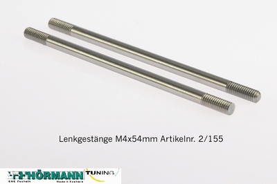 02/155 Lenkgestänge M4x54mm     2 Stuks