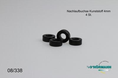 08/338 Naloopbusjes Kunststof L.= 4,0 mm.  4 Stuks