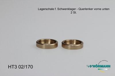 HT3/02/170 Lagerschaal Brons (t.b.v. draagarm)  2 Stuks
