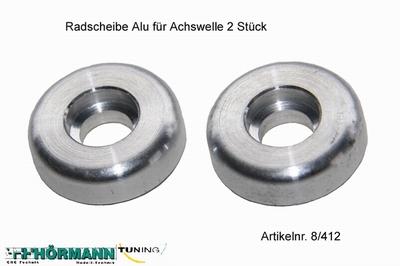 08/412 Radscheibe Alu f.Achswelle  2 Stuks