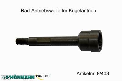 08/403 Wheel axle with M8 thread  1 Stuks