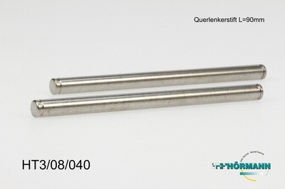 HT3/08/040 Hinge pins diff side L. = 90 mm.  2 Stuks