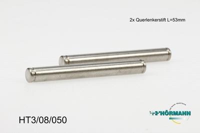 HT3/08/050 Hinge pins hub side L. = 53 mm.  2 Stuks