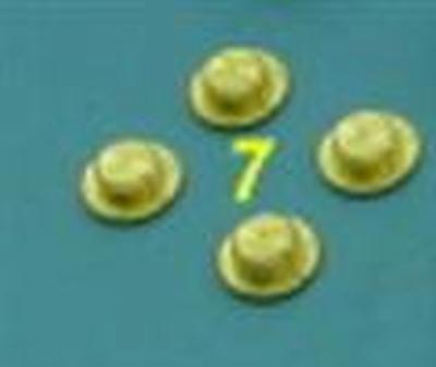Afstandhouder t.b.v. Lauterbacher 4-Backen-Teflon koppeling  4 Stuks