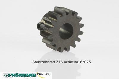 06/075 Stahlzahnrad Z16 gehärtet --Antriebswelle--  1 Stuks
