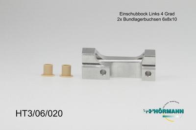 HT3/06/020 Einschubbock f. Querlenker 4 Grad links  1 Stuks