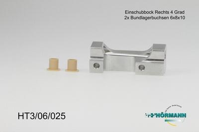 HT3/06/025 Support arm holder 4 degrees right side  1 Stuks