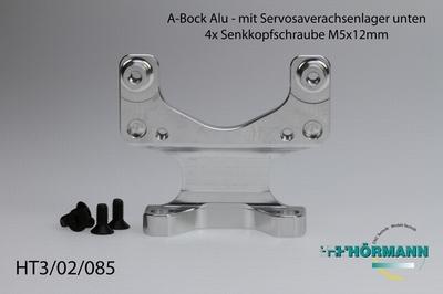 HT3/02/085 B-Bock mit Servoachsenlager unten - Alu  1 Stuks