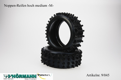 09/045 Hörmann Noppen-Reifen hoch Medium   2 Stuks