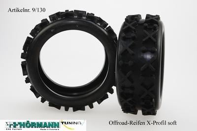 09/130 Hörmann Offroad-Reifen, X-Profil Soft   2 Stuks