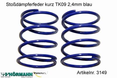 03/149 Schokdemper veer kort 2,4 mm. blauw  2 Stuks