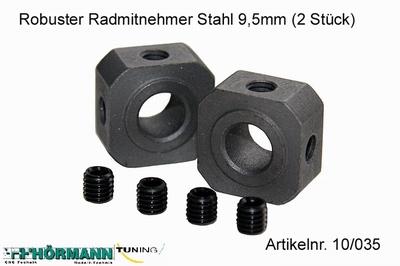 10/035 Wielmeenemers staal 9,5 mm.  2 Stuks