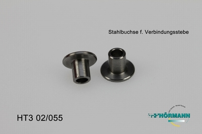 HT3/02/055 Stahlbuchse (f. Verbindungsstrebe - Servosaver)  2 Stuks