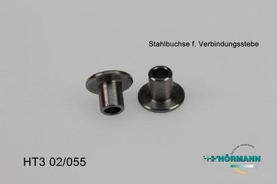 HT3/02/055 Steel bushes (for servosaver connection strip)  2 Stuks