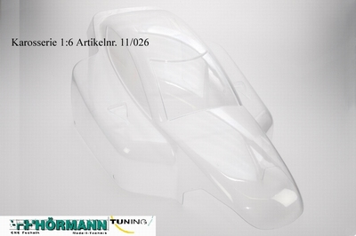 11/026 Hörmann body shell 1:6 for HT1 / HT2 / HT3 / HT4  1 Stuks
