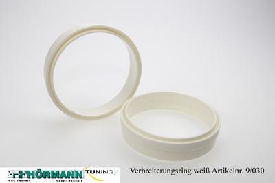 09/030 Widening ring white  2 Stuks