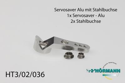 HT3/02/036 Servosaver Alu mit Stahlbuchsen  1 Stuks
