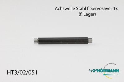 HT3/02/051 Achswelle Stahl f. Servosaver (kugelgelagert)  1 Stuks