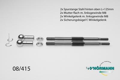 08/415 XL Spurstange Stahl M8 / M6 L.= 125mm.  1 Set