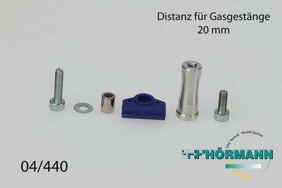 04/440 Gas/remstang verhoger 20 mm.  1 Set