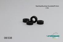08/338 Spacer bushes Plastic L. = 4.0 mm. 4 Stuks
