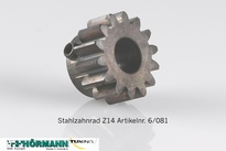 06/081 Stahlzahnrad Z14 f. Antriebswelle 1 Stuks