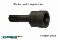 08/402 Steckachse f. Kugelantrieb 1 Stuks