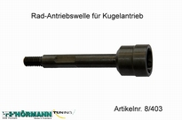 08/403 Wheel axle with M8 thread 1 Stuks