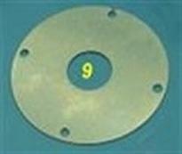 Frontplaat t.b.v. Lauterbacher 4-Backen-Teflon koppeling 1 Stuks