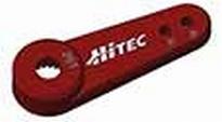 118719 Hitec servo hevel metaal rood enkele arm 1 Stuks