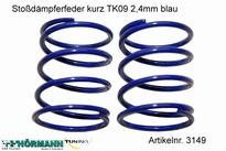 03/149 Shock absorber spring short 2,4 mm. blue 2 Stuks
