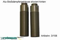 03/158 Alu-Stoßdämpfergehäuse eloxiert hinten lang L = 84mm 2 Stuks