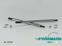 03/212 Shock shaft for XL  L=107 mm. 4,8 mm. 2 Stuks