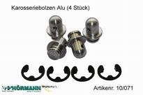 10/071 Aluminium kapsteunen 4 Stuks