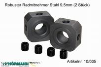 10/035 Robuster Radmitnehmer Stahl 9,5mm 2 Stuks