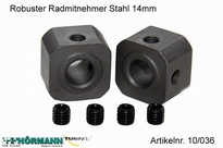 10/036 Robuster Radmitnehmer Stahl 14mm 2 Stuks