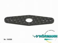 10/058 Carbonplaatje voor op plastic servosaverdeel