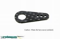 10/059 Carbonplaatje voor op plastic servosaverdeel