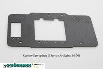 10/005 Carbon Servo plaat ( 3-Servo's) 1 Stuks