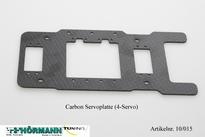 10/015 Carbon servo plaat ( 4-Servo's) 1 Stuks