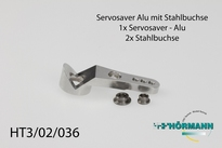 HT3/02/036 Servosaver alu part with steel bushings 1 Stuks