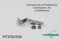 HT3/02/036 Servosaver alminiumdeel met stalen bussen 1 Stuks