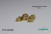 HT3/02/060 Bearing bushes 6x8x6 mm. 10 Stuks