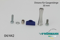 04/442 Gas / brake rod raiser 30 mm. 1 Set